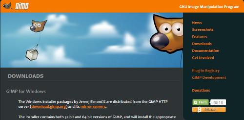 GIMPのダウンロードからインストールまで