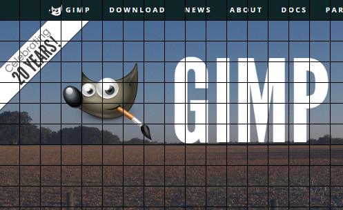 GIMP グリッド機能の使い方 表示方法と設定