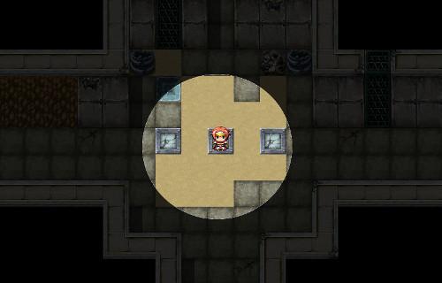 【RPGツクールMV】暗闇でプレイヤーの周囲だけを明るくする方法